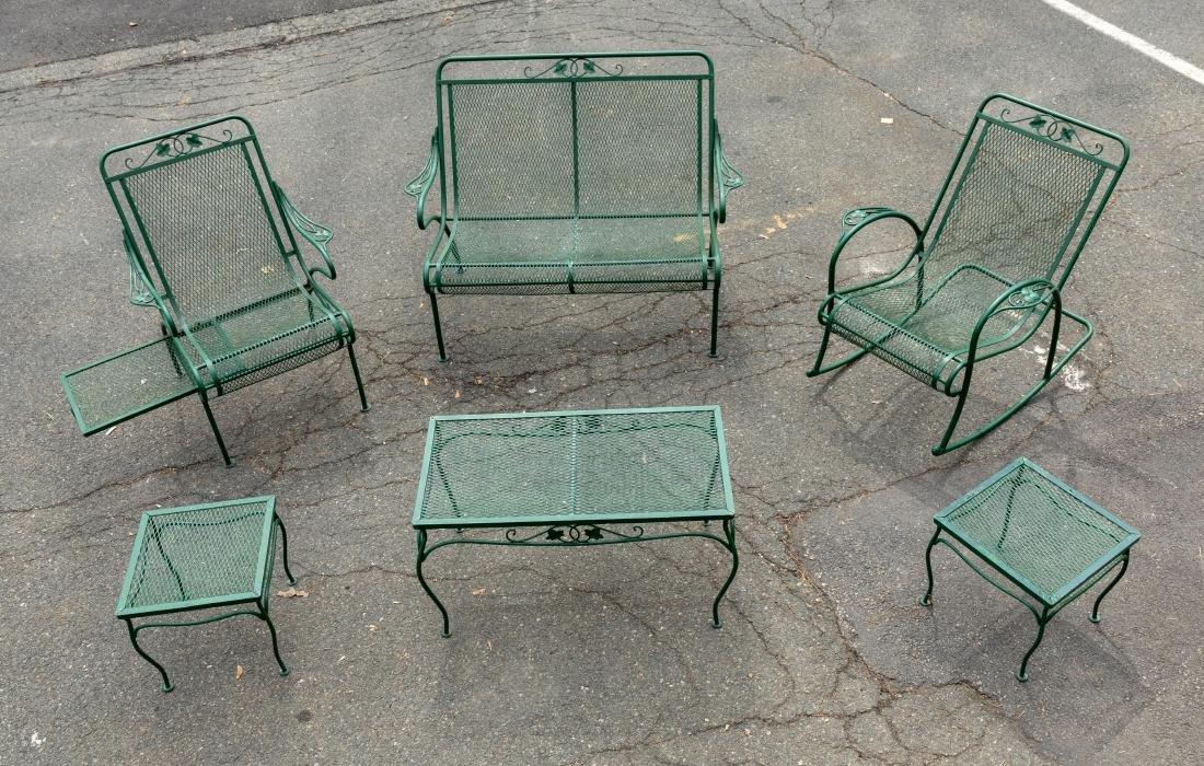 Wrought Iron Porch Set - 6 Piece
