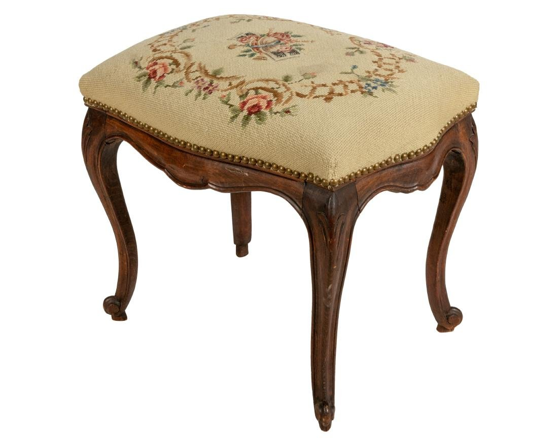 French Style Needlepoint Bench