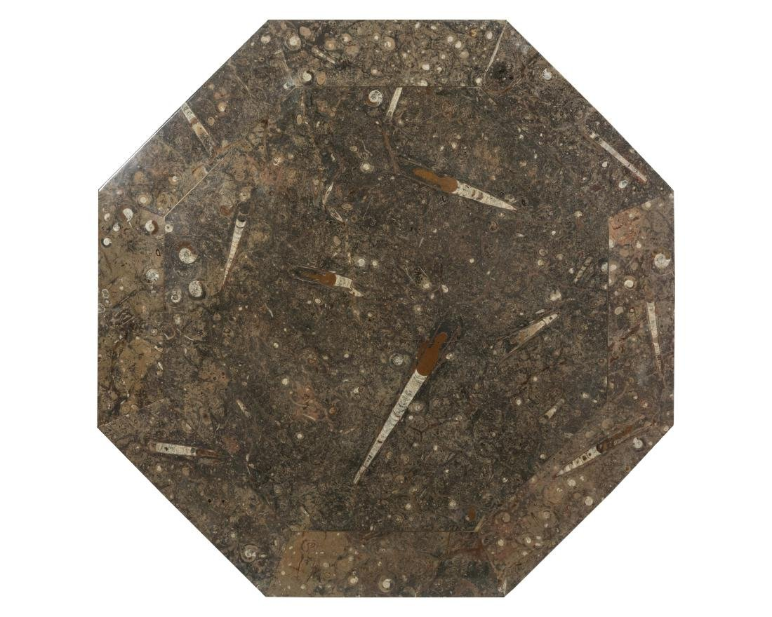 Octagonal Moroccan Fossil Slab Table Top