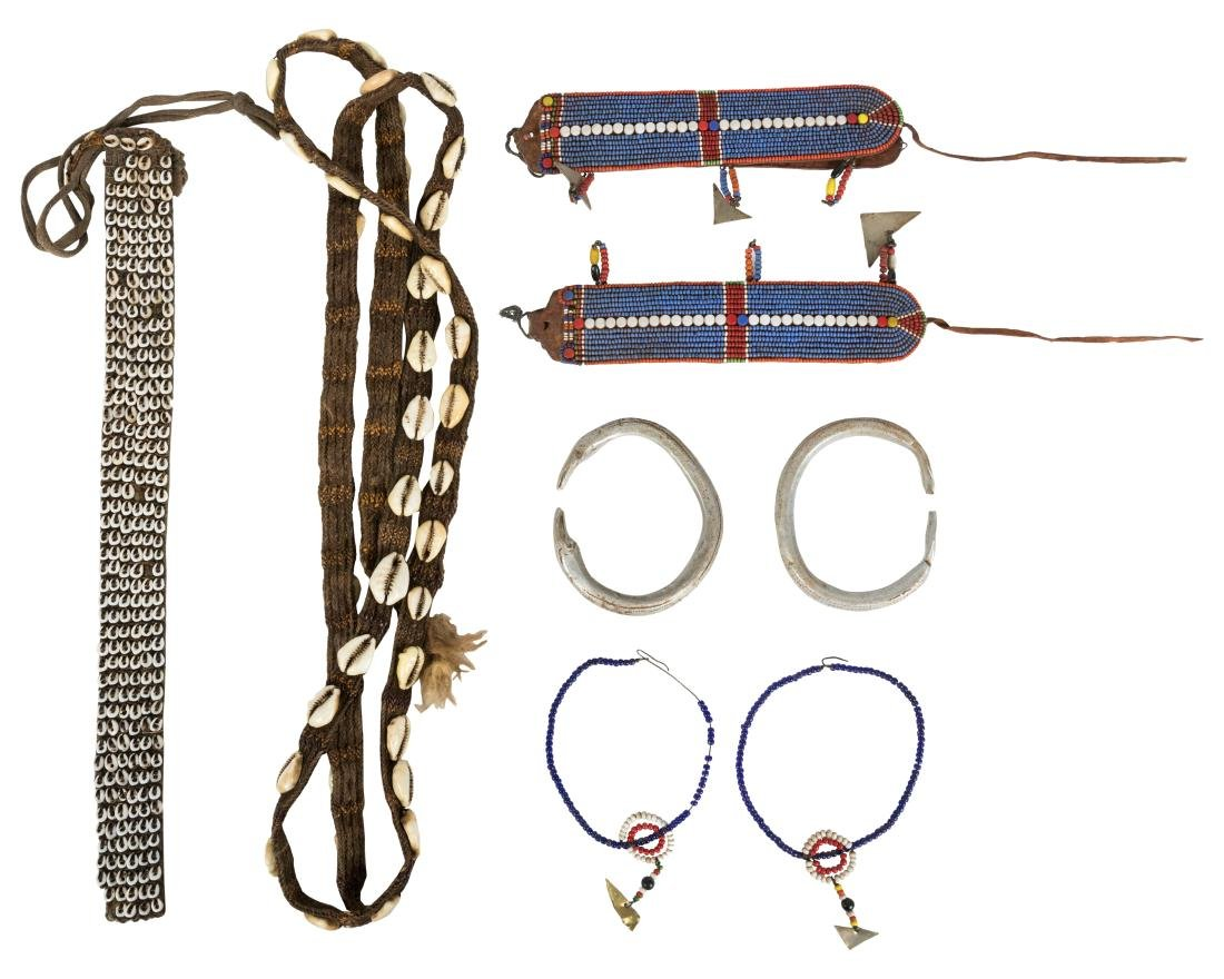 West African Beaded Jewelry Group