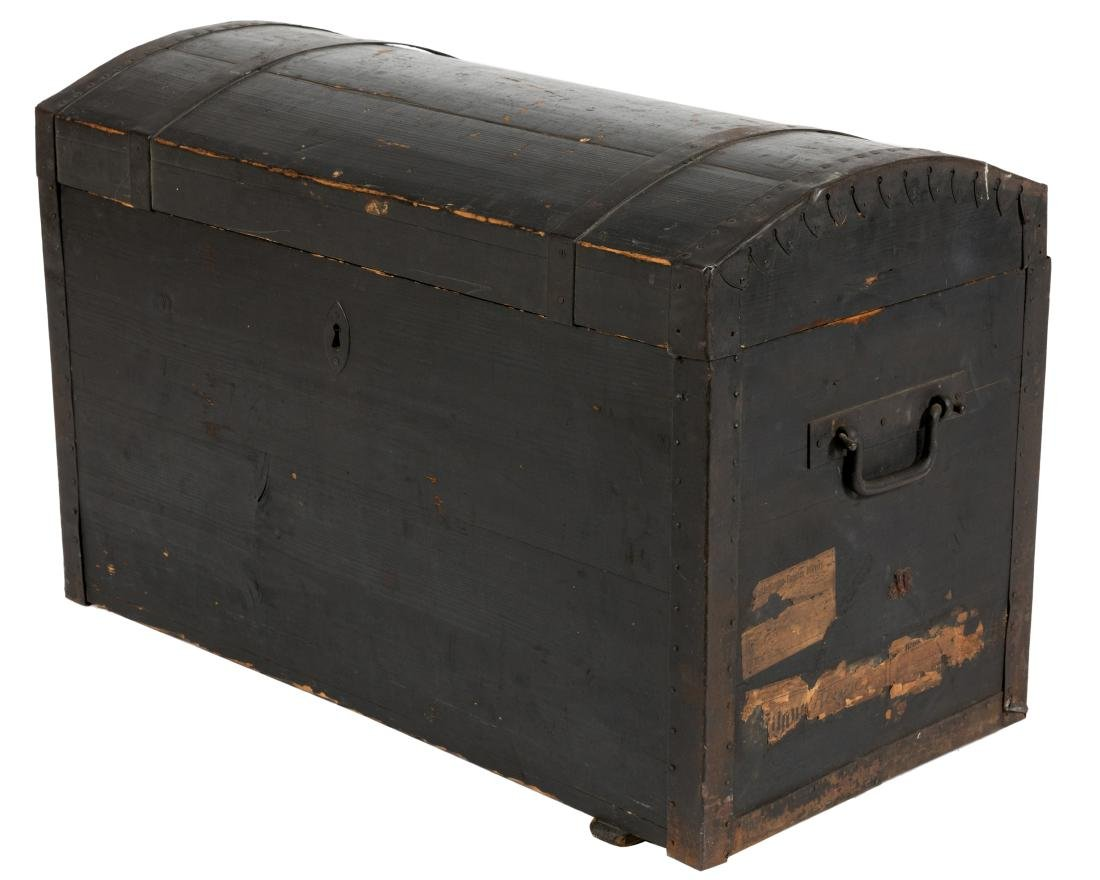 German Dome Top Trunk - C. 1840