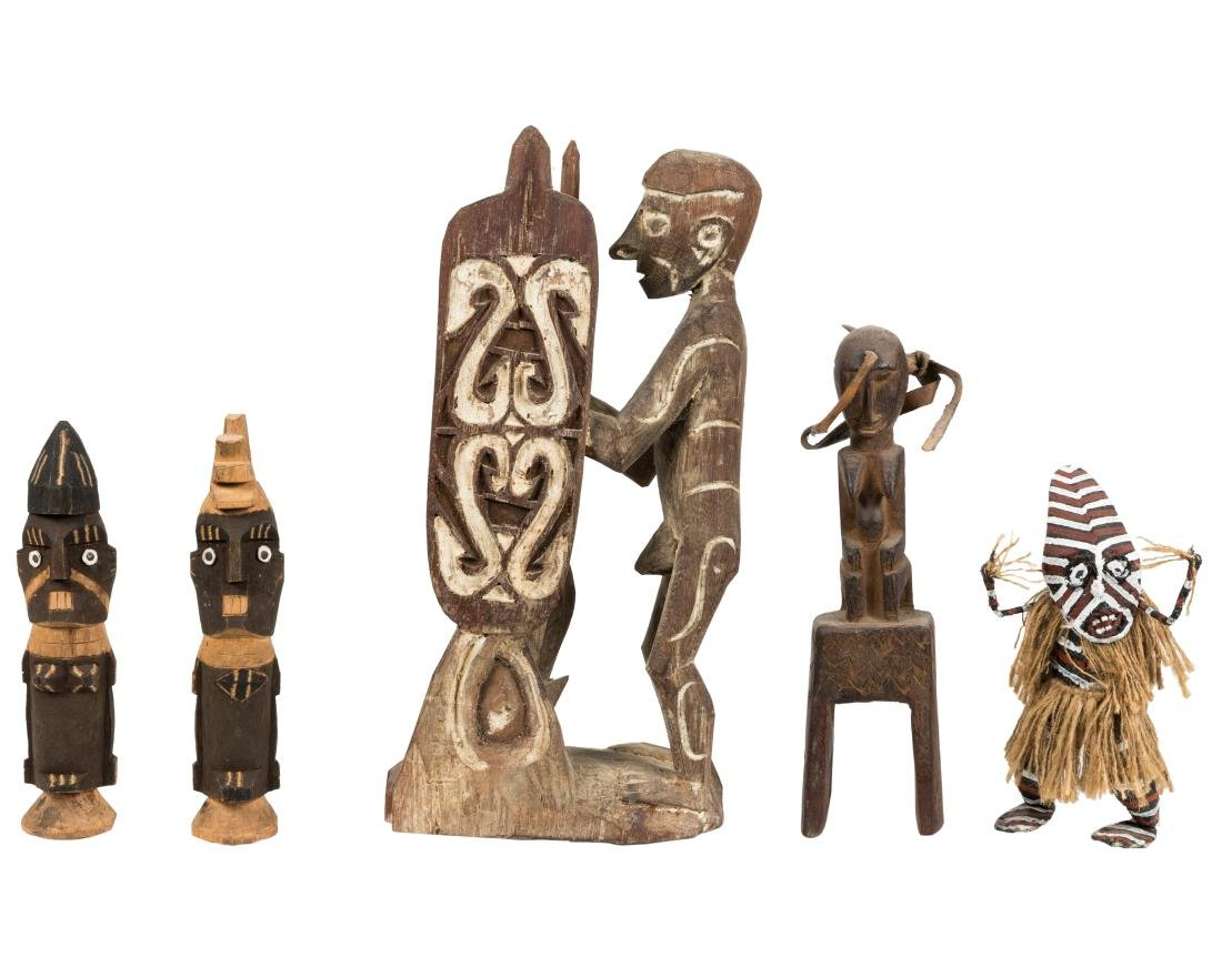 Primitive African Figural Carvings