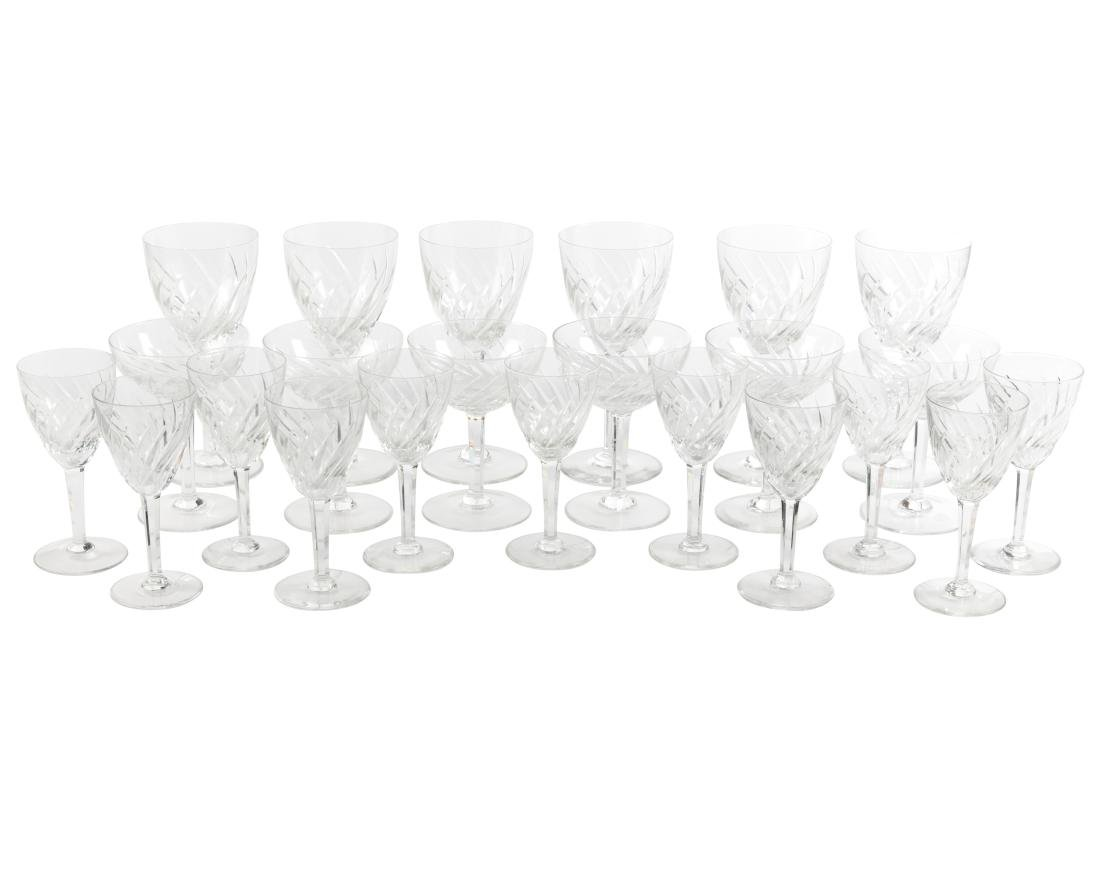 Val St. Lambert Crystal Stemware - 23 Pieces