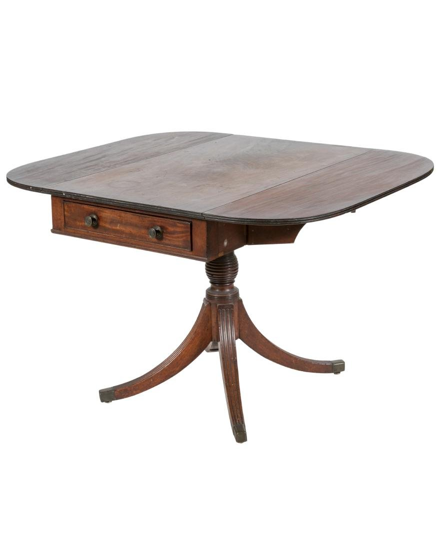 19th C. Federal Mahogany Pedestal Table