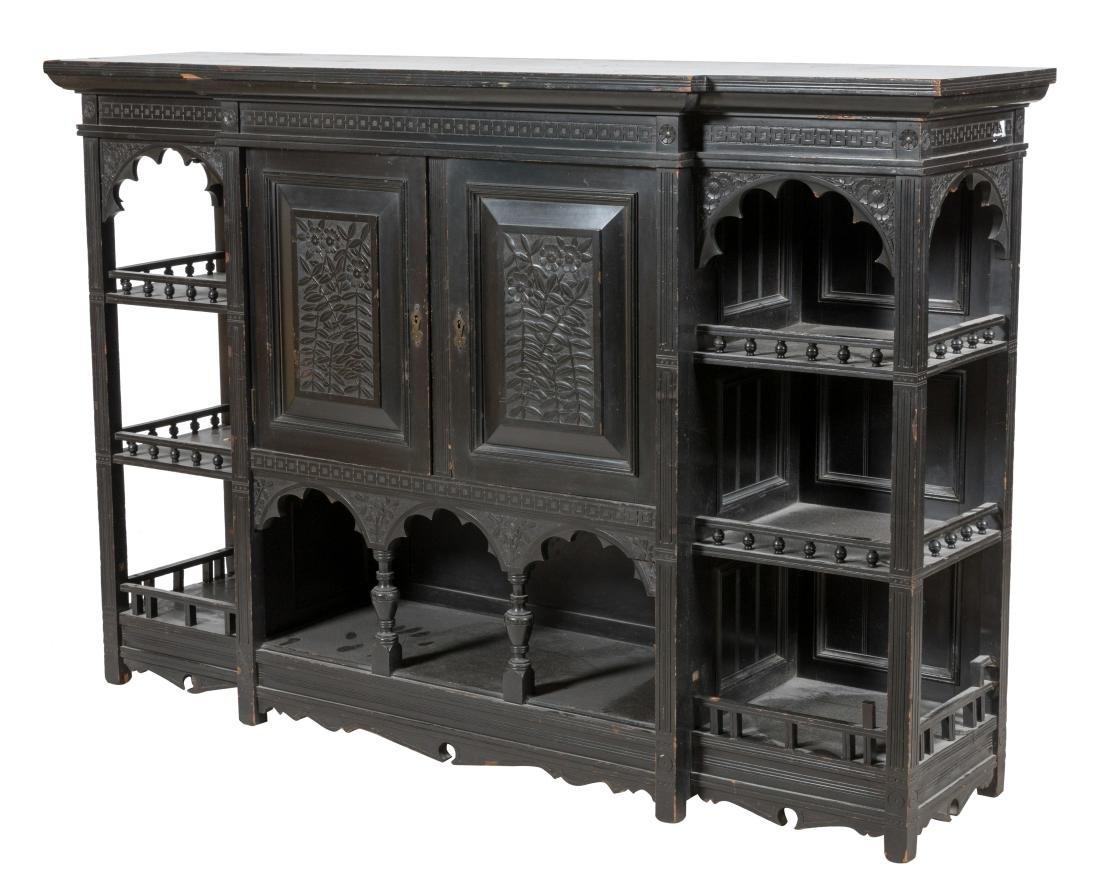 Ebonized Aesthetic Etagere Cabinet