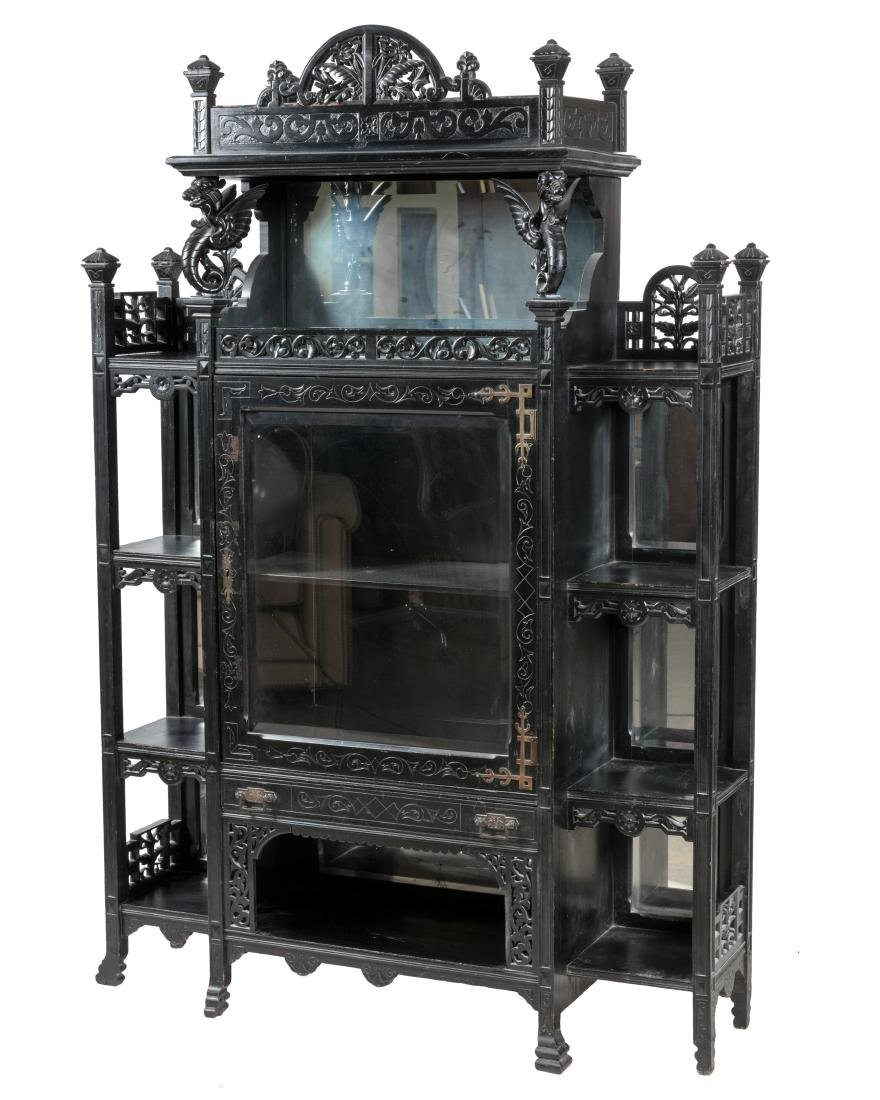 Ebonized Aesthetic Curio Etagere