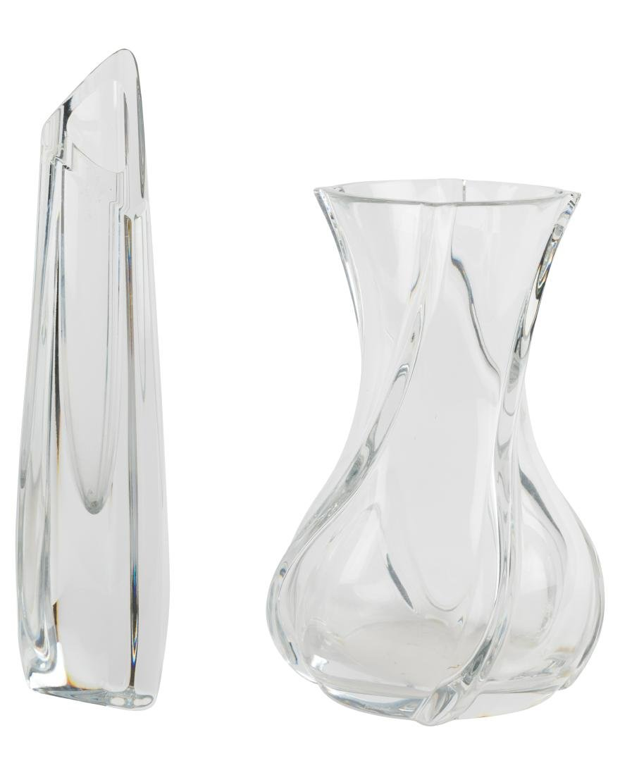 Baccarat Crystal Vases - Two - Signed