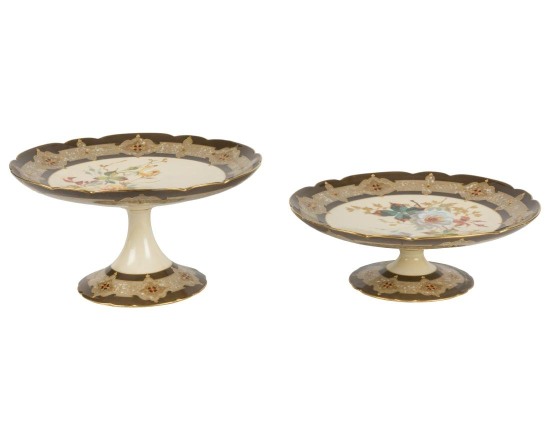 Limoges for Bennett Bros. Compotes - Pair