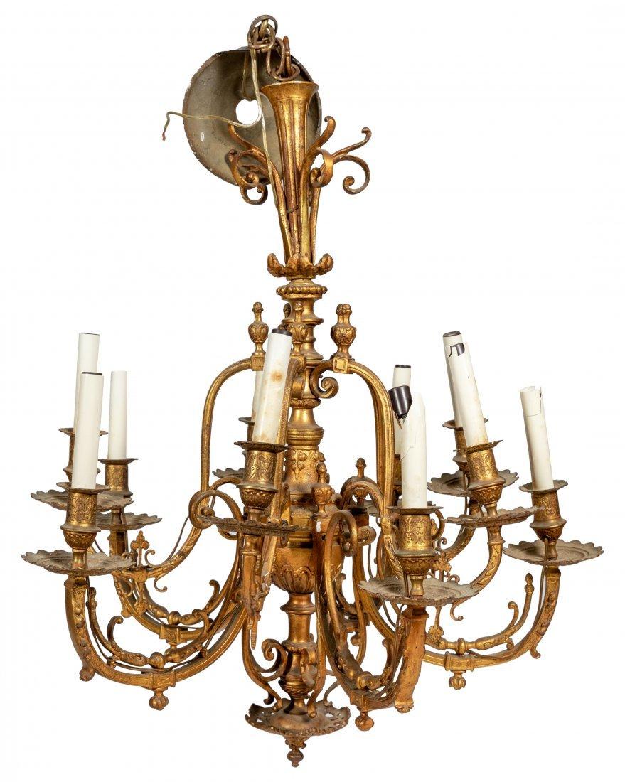 Victorian Gilt Bronze Chandelier