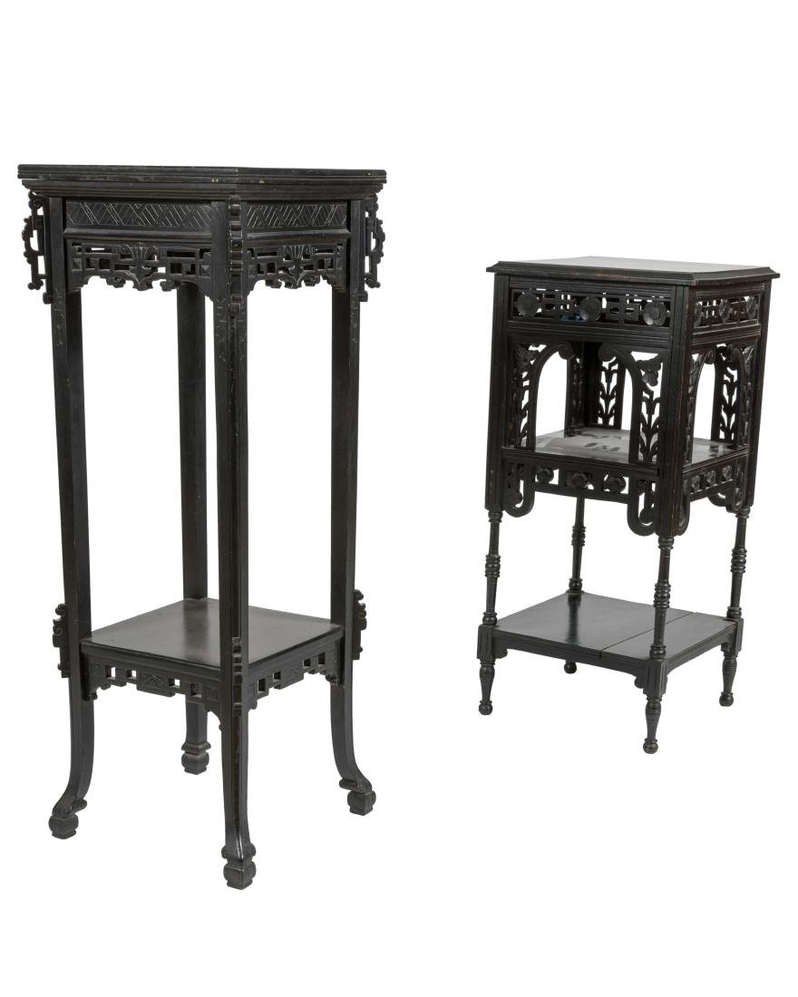 Ebonized Aesthetic Pedestals - Two