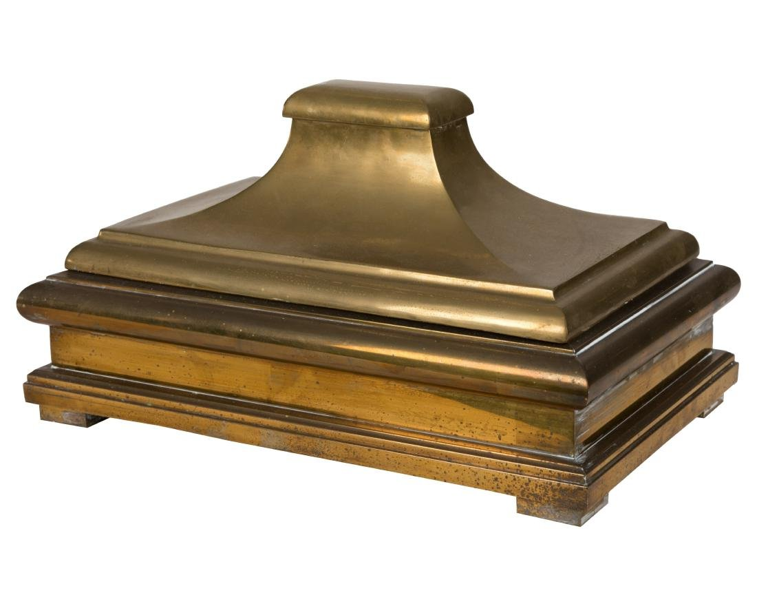 Large Brass Covered Box
