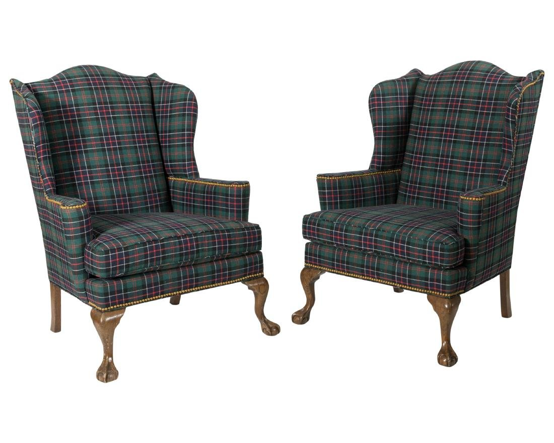Drexel Heritage Wing Back Chairs - Pair
