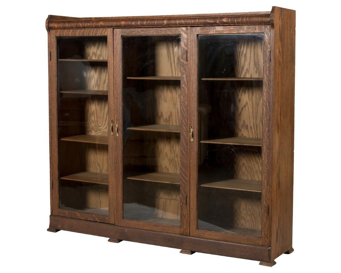 Three Section Oak Bookcase