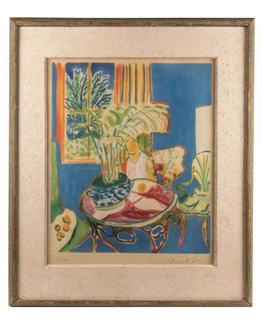 """Henri Matisse - """"Petit Interior Bleu"""" Aquatint"""