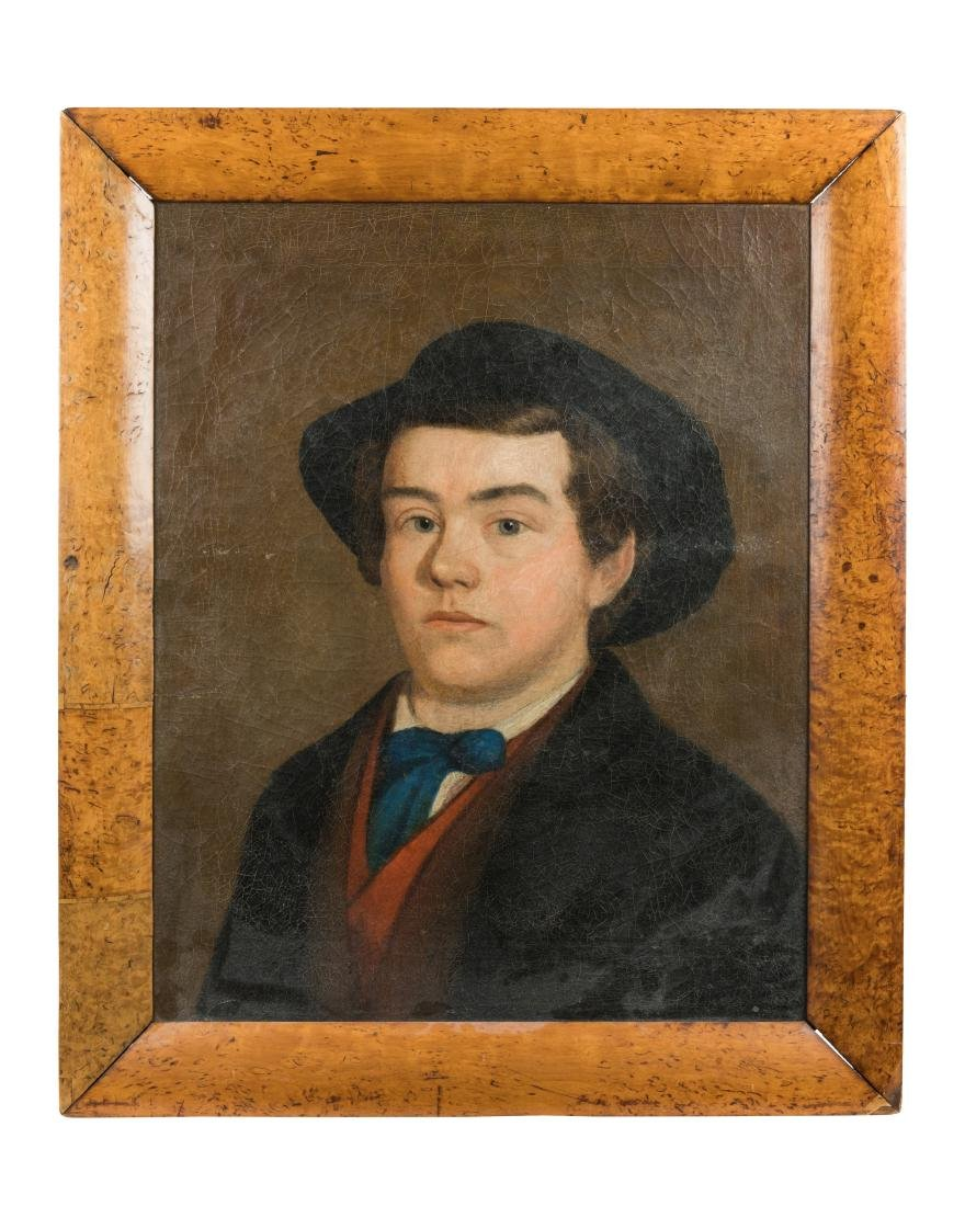 19th C. Portrait Oil on Canvas