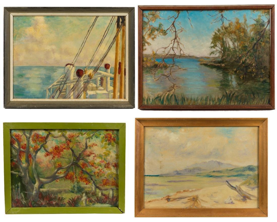 Helen A.F. Penniman - 4 Oil Paintings