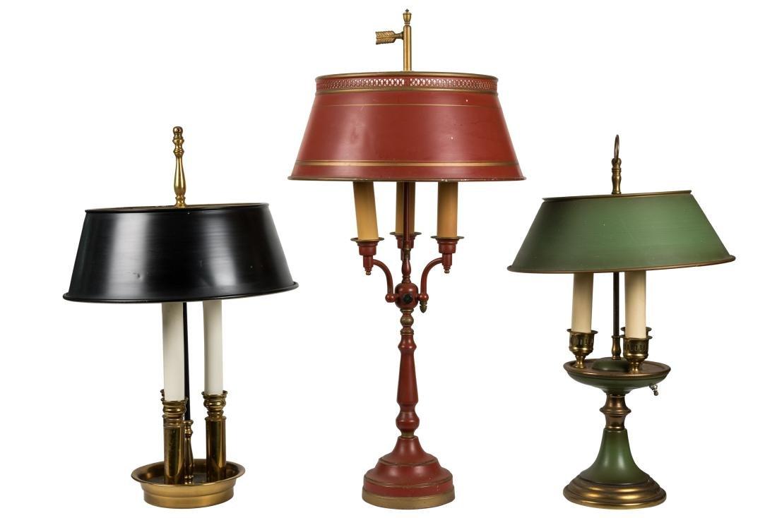 Tole Bouillotte Lamps - Five