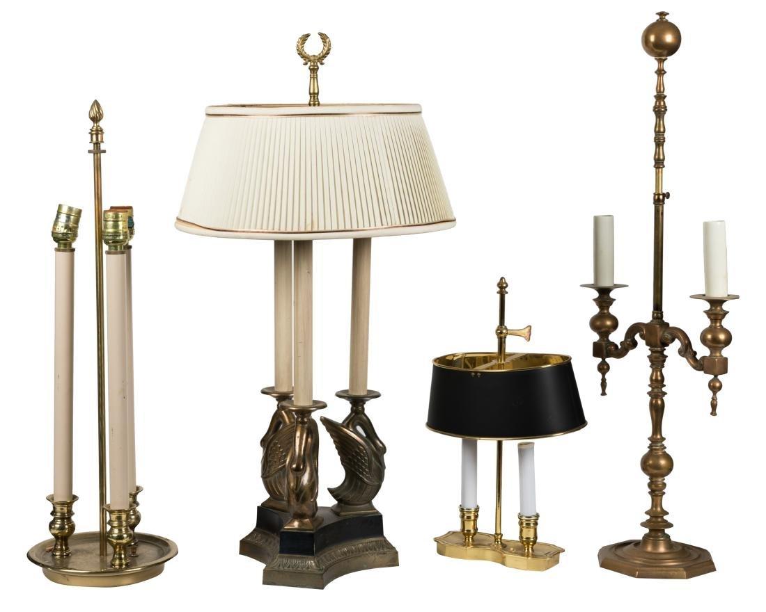 Four Bouillotte Lamps