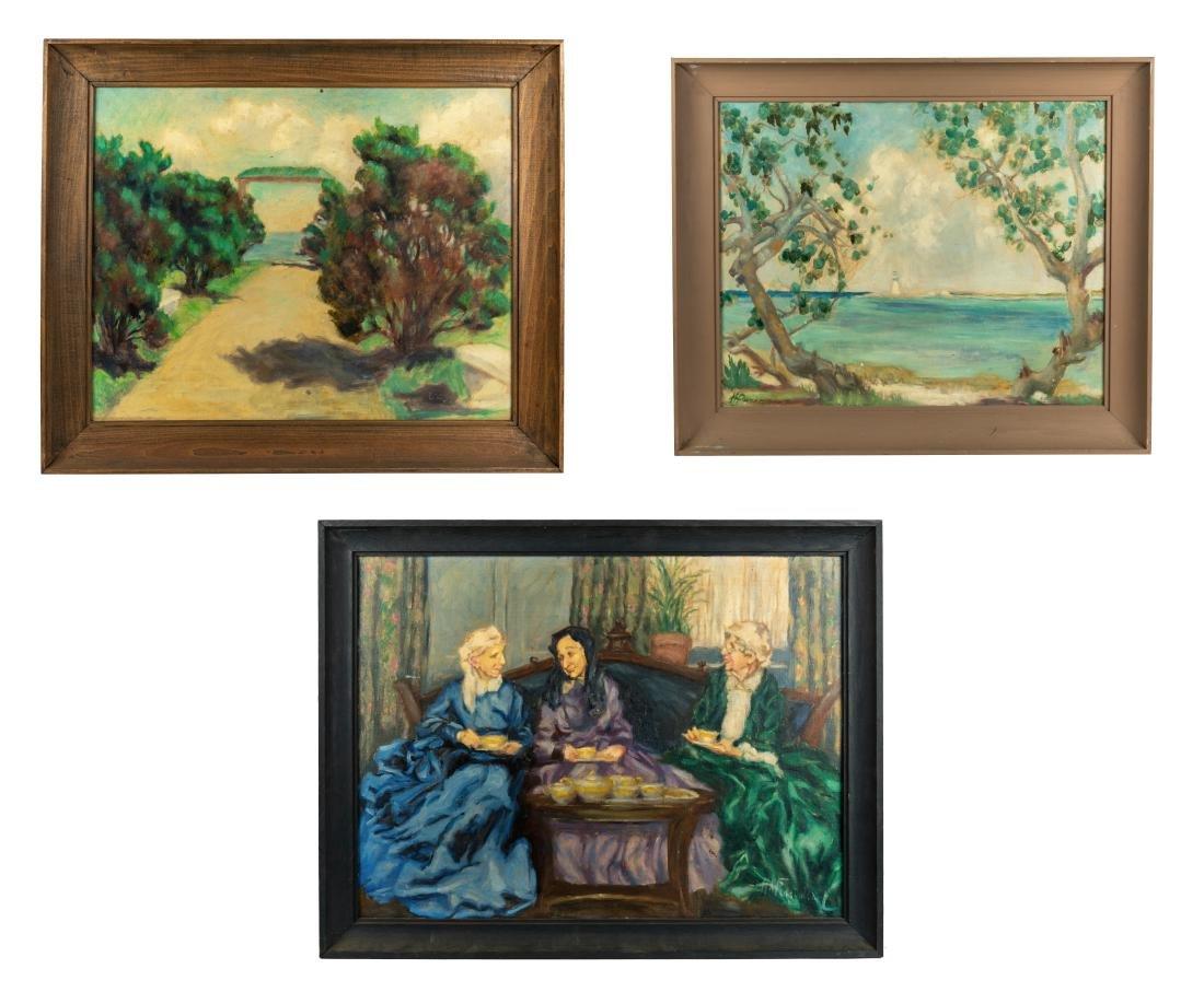 Helen A.F. Penniman -  3 Oil Paintings