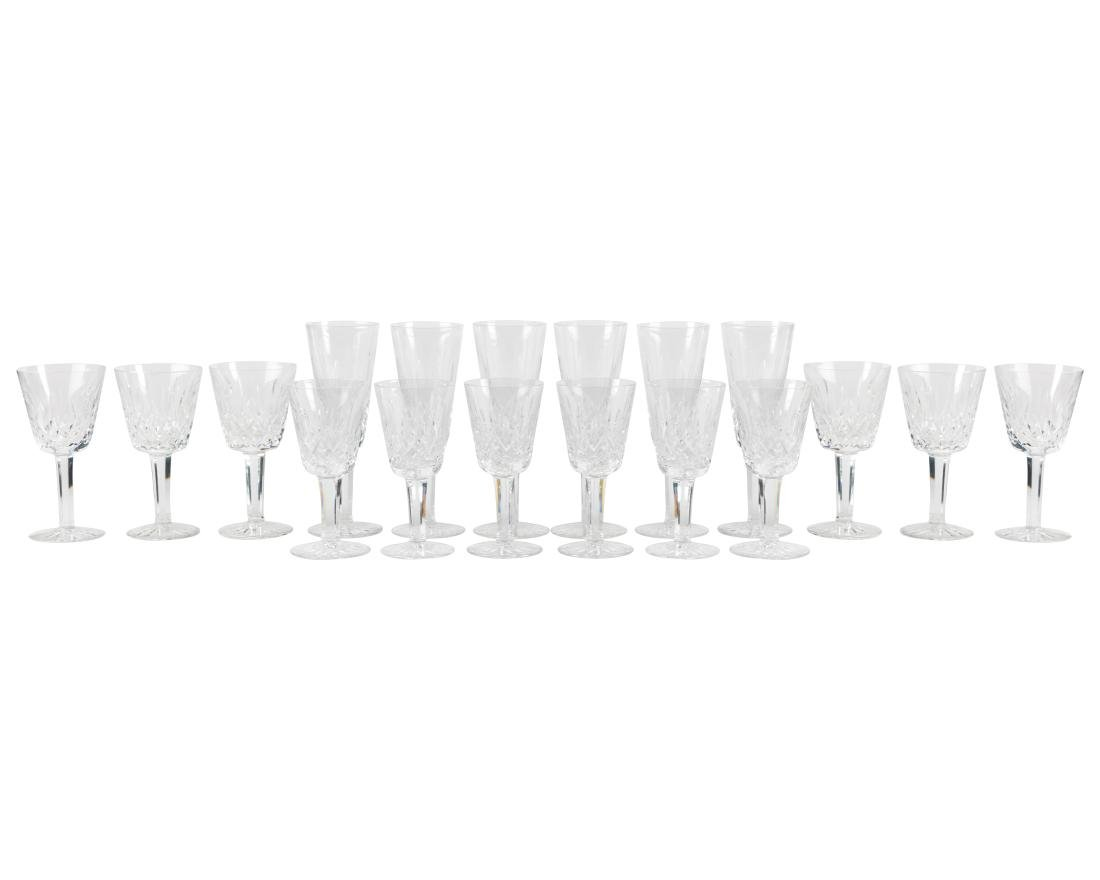 Waterford Lismore Crystal Stemware - 18 Pieces