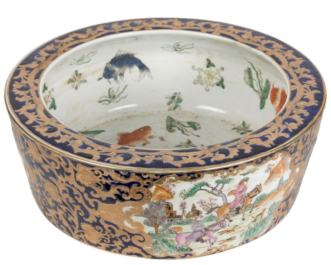 Chinese Porcelain Fish Bowl