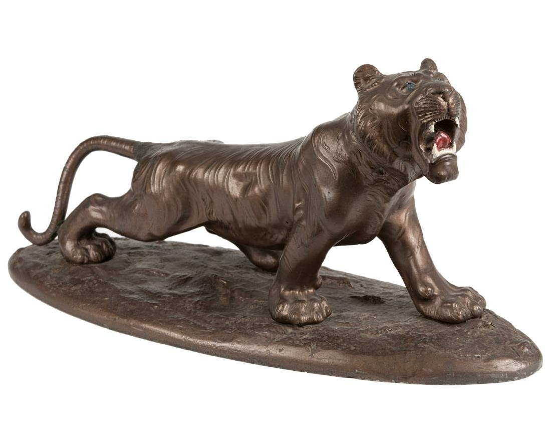 Patinated Cast Metal Lion