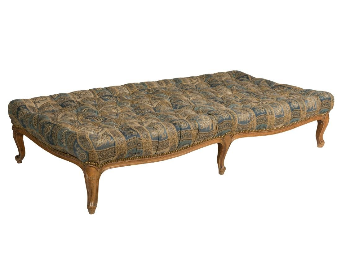 Large French Tufted Ottoman