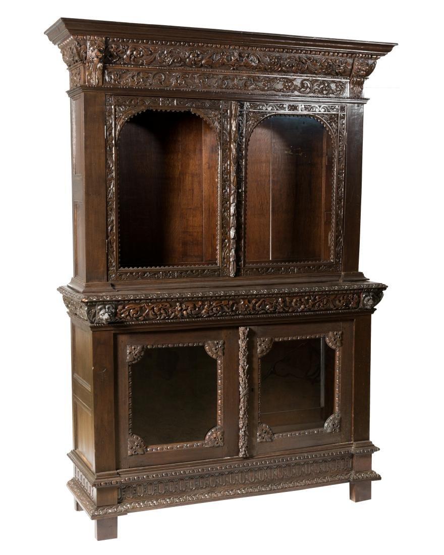 19th C. Continental Oak Bookcase
