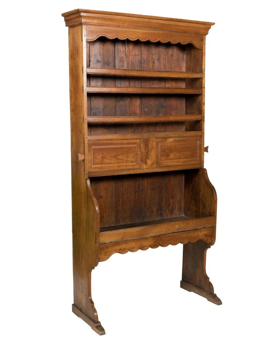 19th C. Country French Wall Cabinet