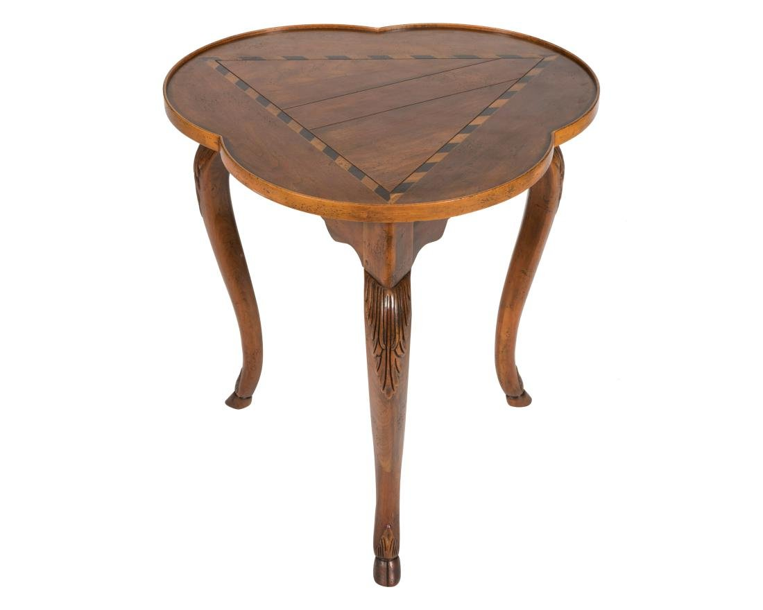 Baker Inlaid Cloverleaf Table