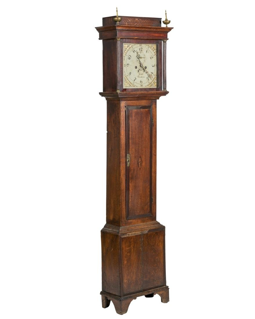 19th C. English Oak Grandfathers Clock