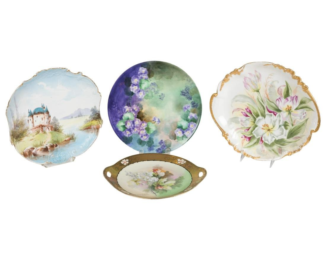 Hand Painted Limoges Chargers - Four