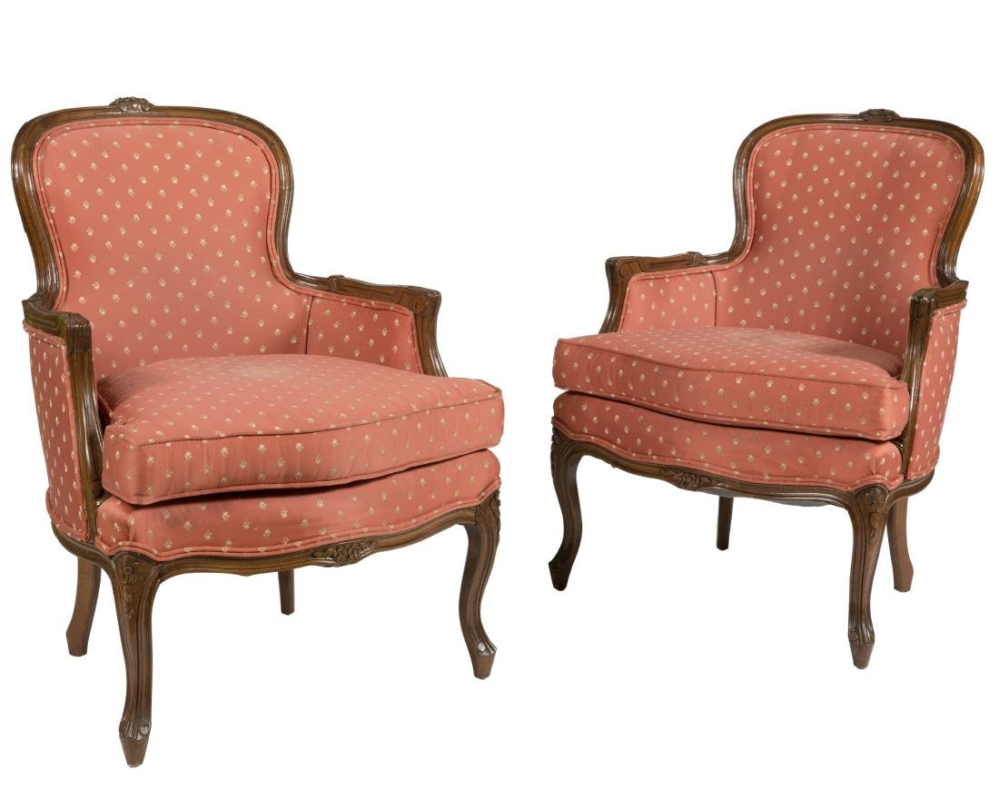 French Provincial Boudoir Chairs - Pair