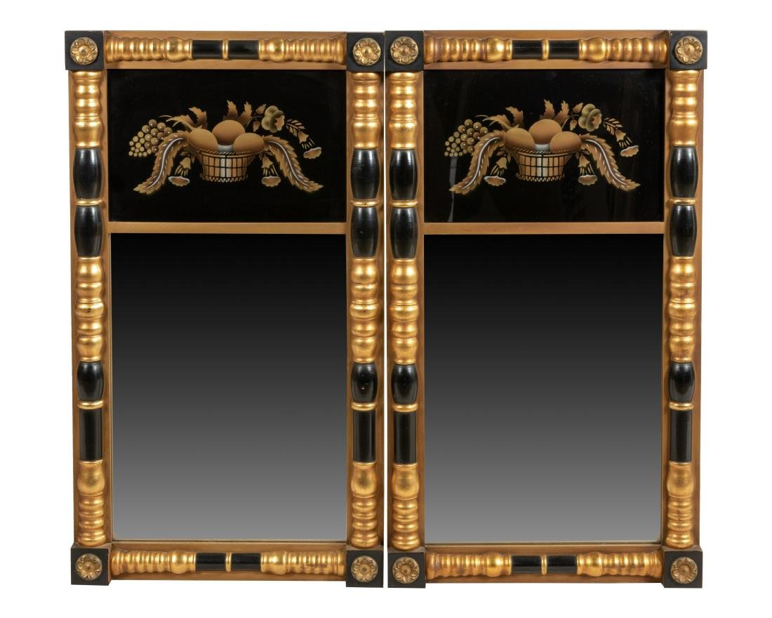 Hitchcock Empire Style Mirror - Pair