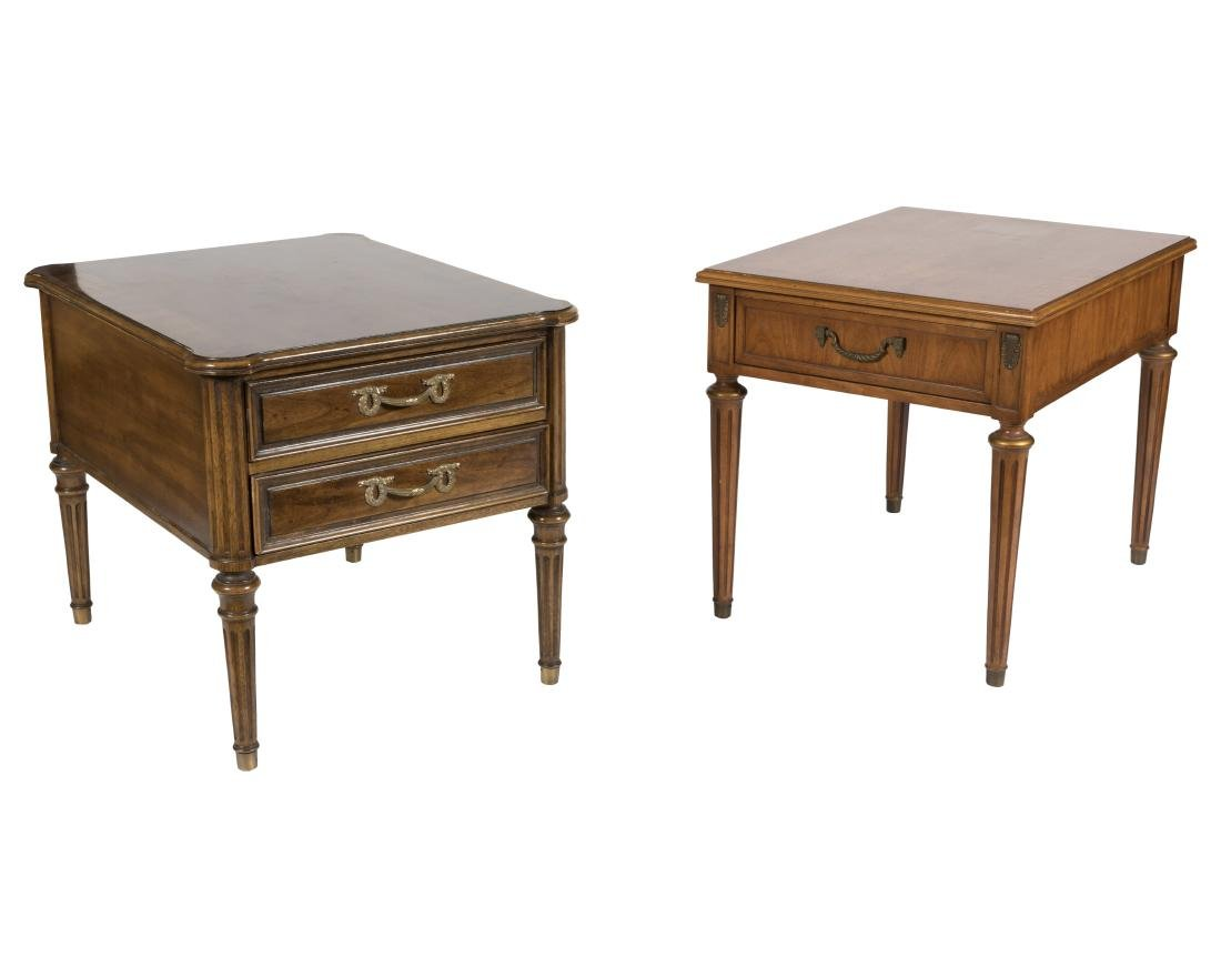 Three Henredon Tables and Fruitwood Tray Table