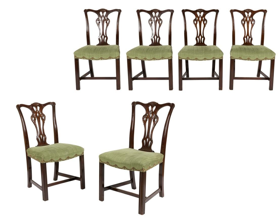Chippendale Style Dining Chairs - Six