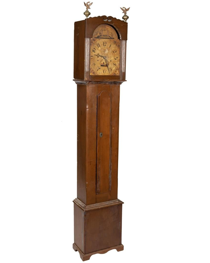 Primitive Antique Grandfather Clock