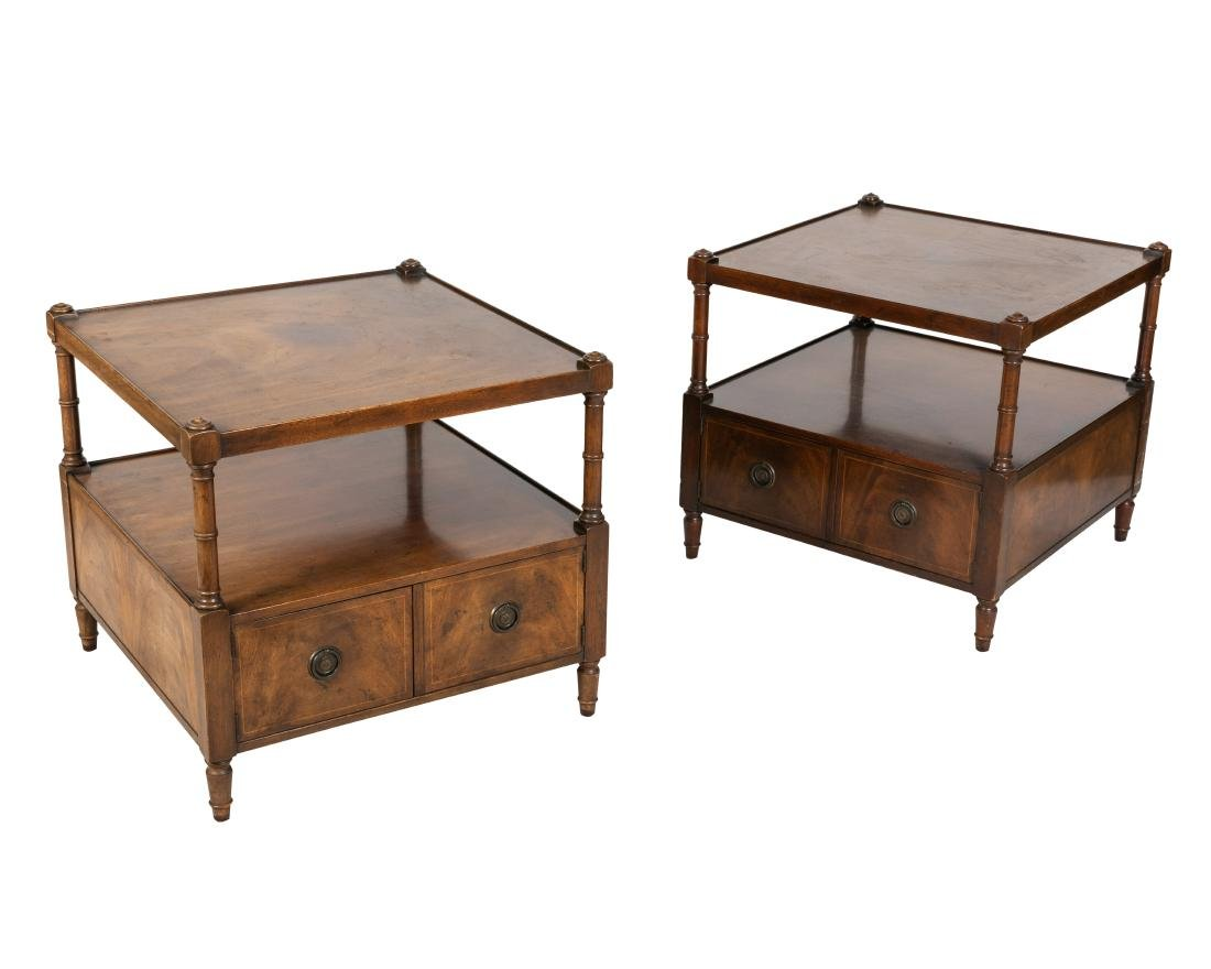 Mahogany End Tables - Pair