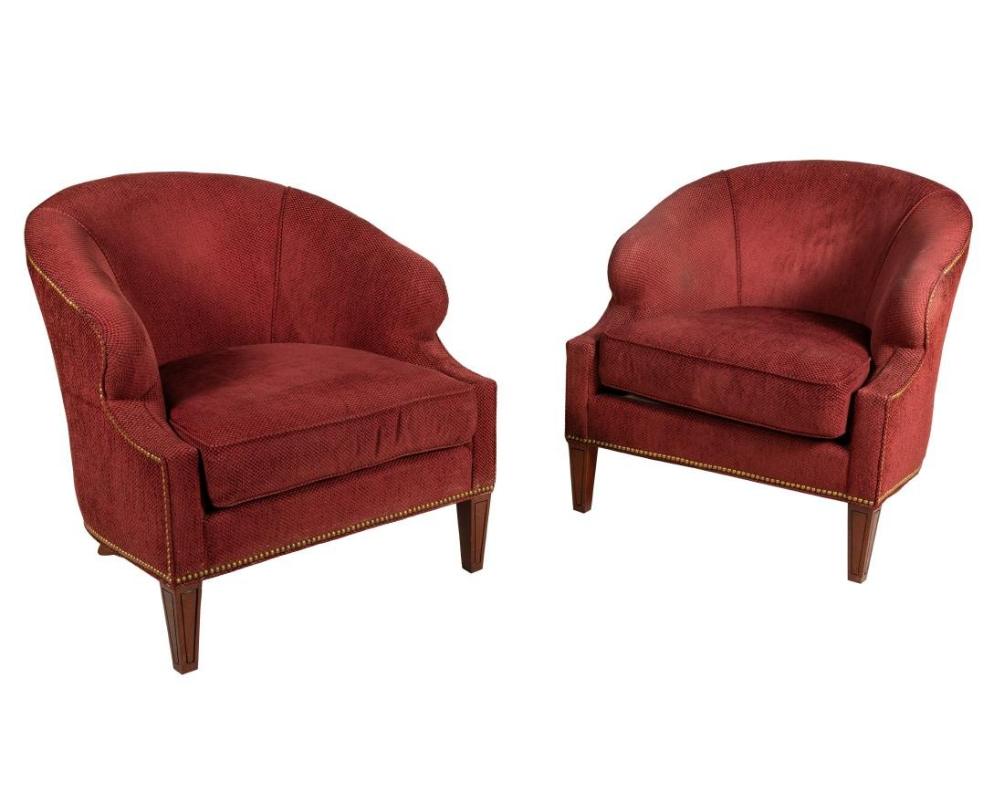 Hickory Chair Co. Lounge Chairs - Pair