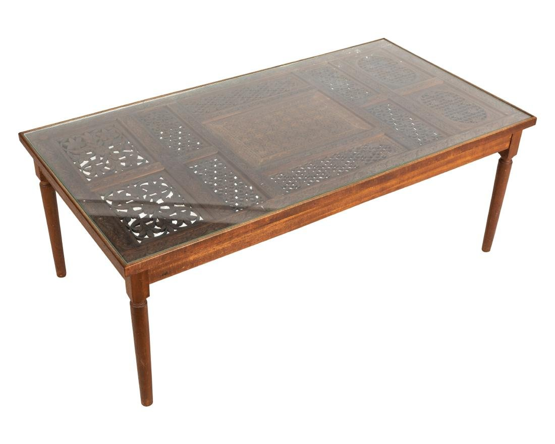 Indian Teak Openwork Coffee Table