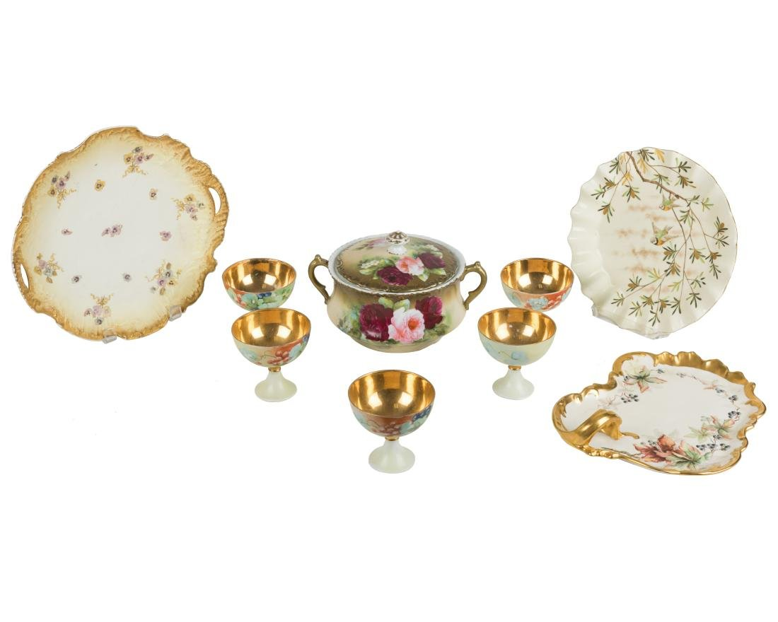 German, Austrian & Limoges China - 9 Piece