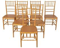 Faux Bamboo Dining Chairs  Set of 7