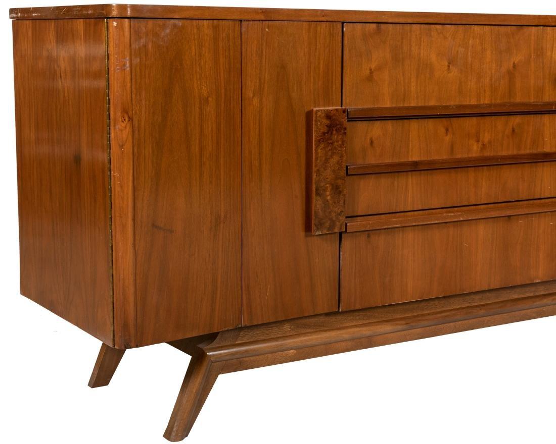Walnut and Burl Triple Dresser - 4
