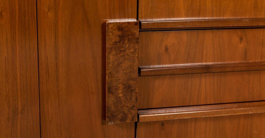 Walnut and Burl Triple Dresser - 5