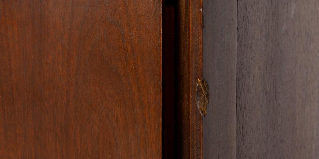 Walnut Concave Highboy Dresser - 3