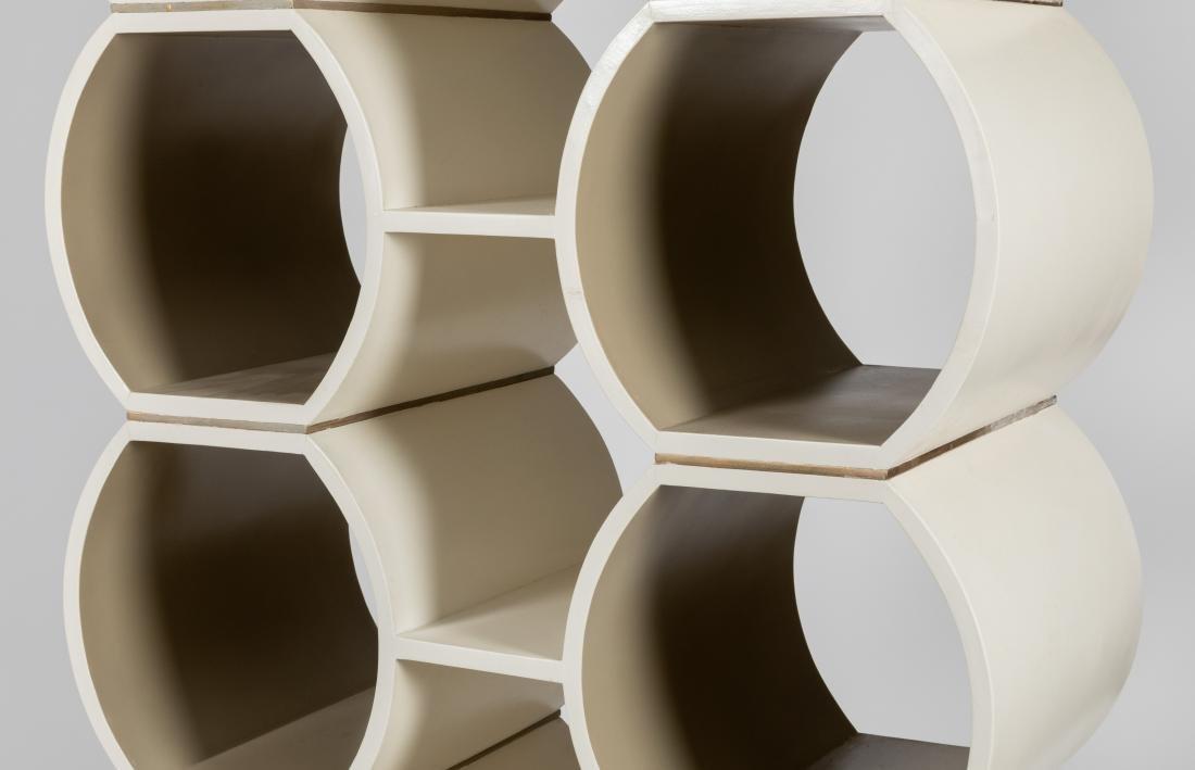 White Lacquer Honeycomb Shelf - 2