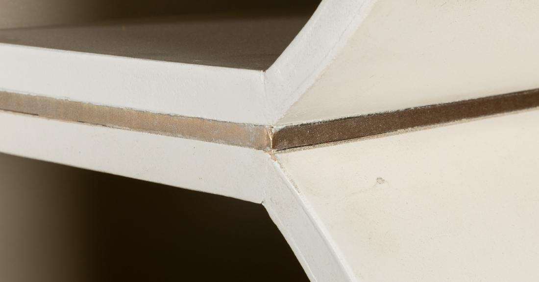 White Lacquer Honeycomb Shelf - 4