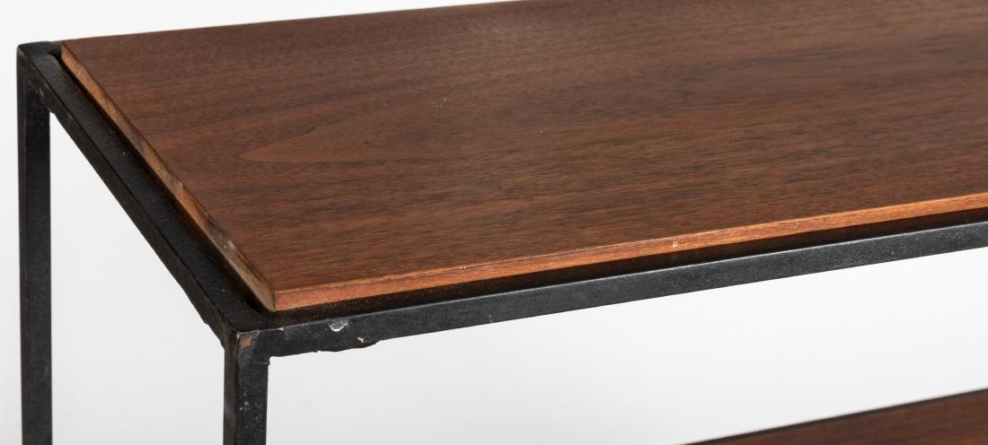George Nelson Style Iron and Walnut Shelf - 2