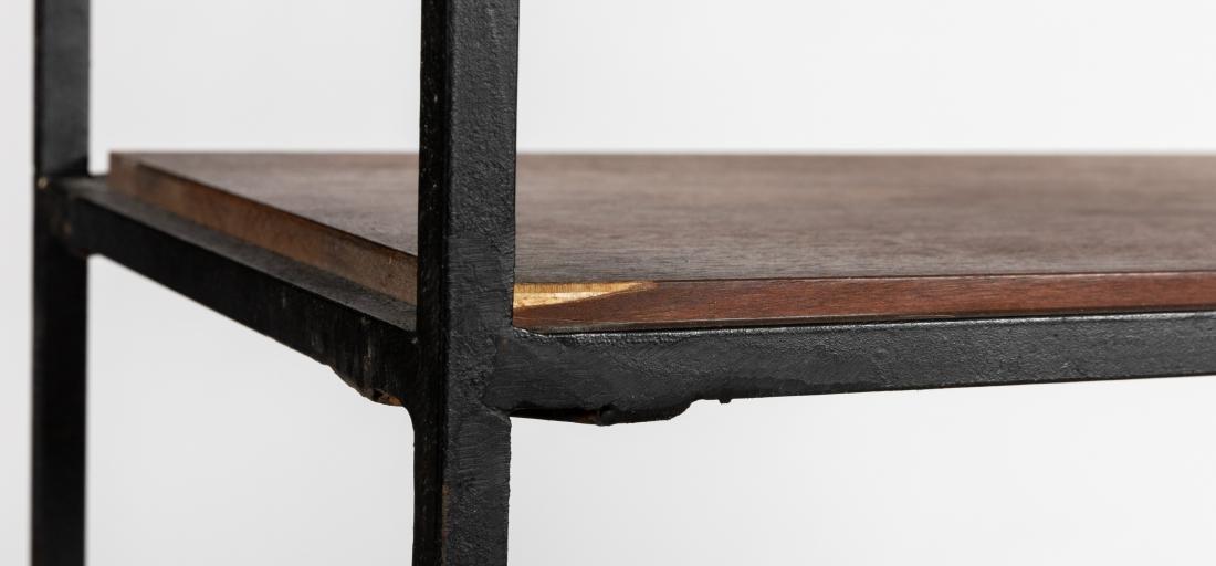 George Nelson Style Iron and Walnut Shelf - 3