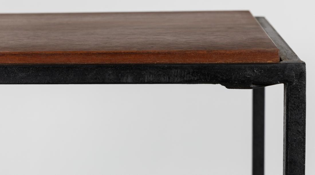 George Nelson Style Iron and Walnut Shelf - 4